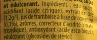 Ice Tea Saveur Framboise - Ingredients