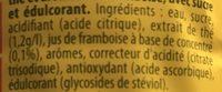 Ice Tea Saveur Framboise - Ingrédients - fr