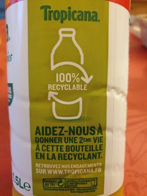Jus d'orange avec pulpe format familial - Instruction de recyclage et/ou informations d'emballage - fr