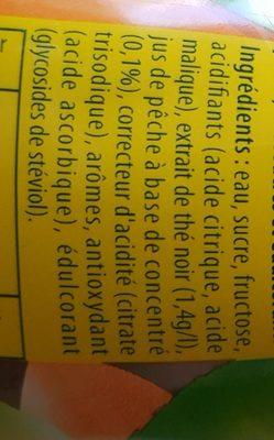Ice Tea Pêche - Ingredients
