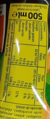 Lipton Ice Tea saveur pêche 4 x 50 cl - Valori nutrizionali - fr