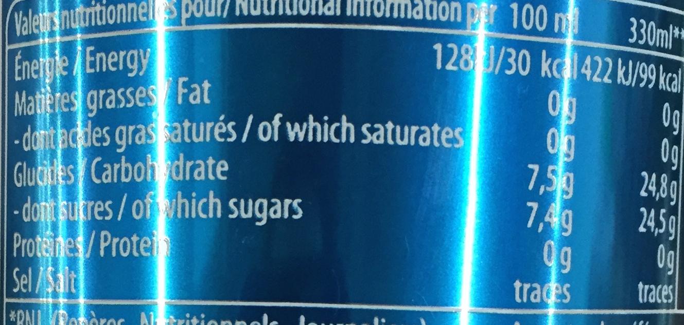 Next - Informations nutritionnelles