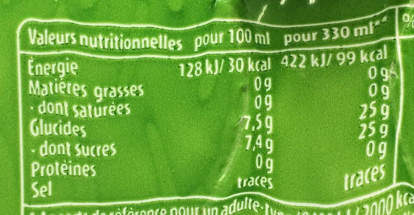 Pepsi Next (+1 boîte gratuite) - Voedingswaarden - fr