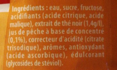 Ice tea Pêche - Ingredients