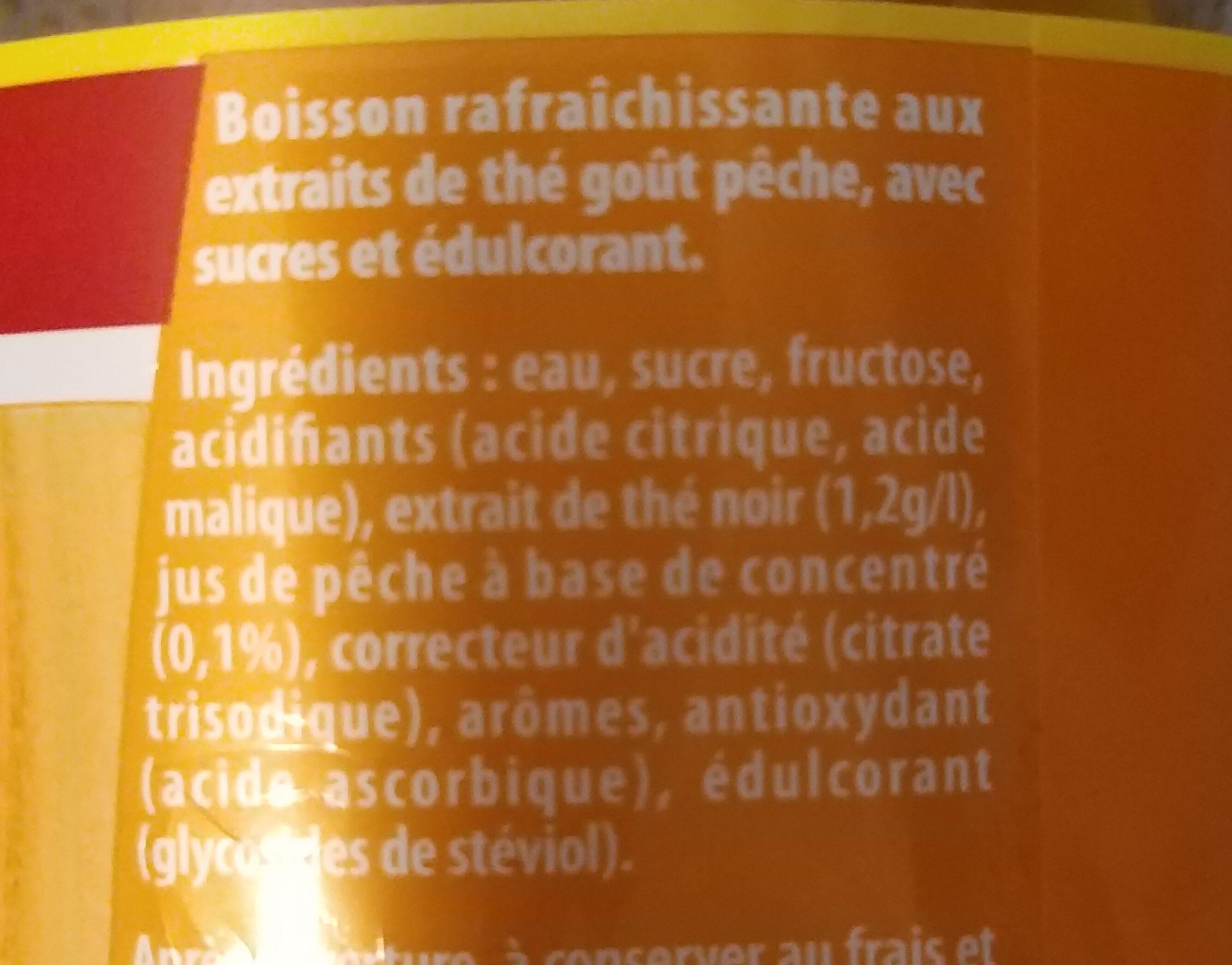 Ice Tea saveur pêche - Ingredienti - fr