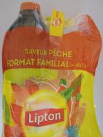 Lipton Ice Tea saveur pêche format familial 4 x 2 L - Produit - fr