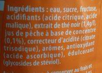 Lipton Ice Tea saveur pêche format familial 4 x 2 L - Ingrédients - fr