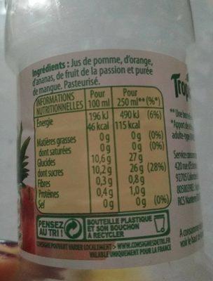 Pure Premium Multifruits - Voedingswaarden