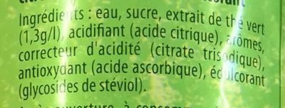 Ice Tea saveur Mojito - Ingrediënten