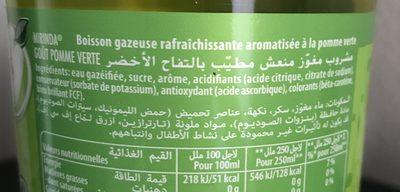 Mirinda Boisson gazeuse goût pomme verte 2 L - Ingredienti - fr
