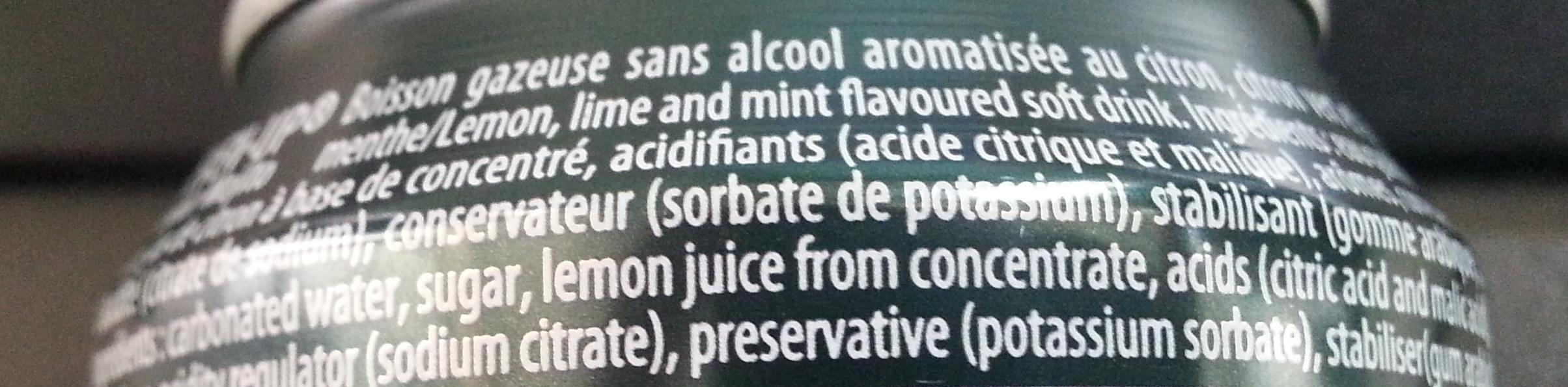7up saveur Mojito - Ingrediënten