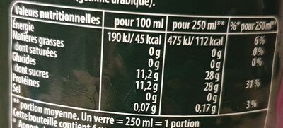 7 Up saveur Mojito - Nutrition facts