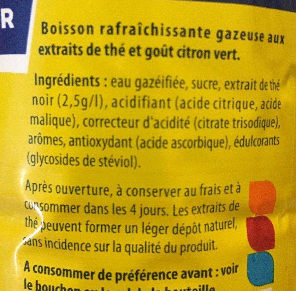 Lipton Liptonic pétillant 1,5 L - Ingrédients - fr