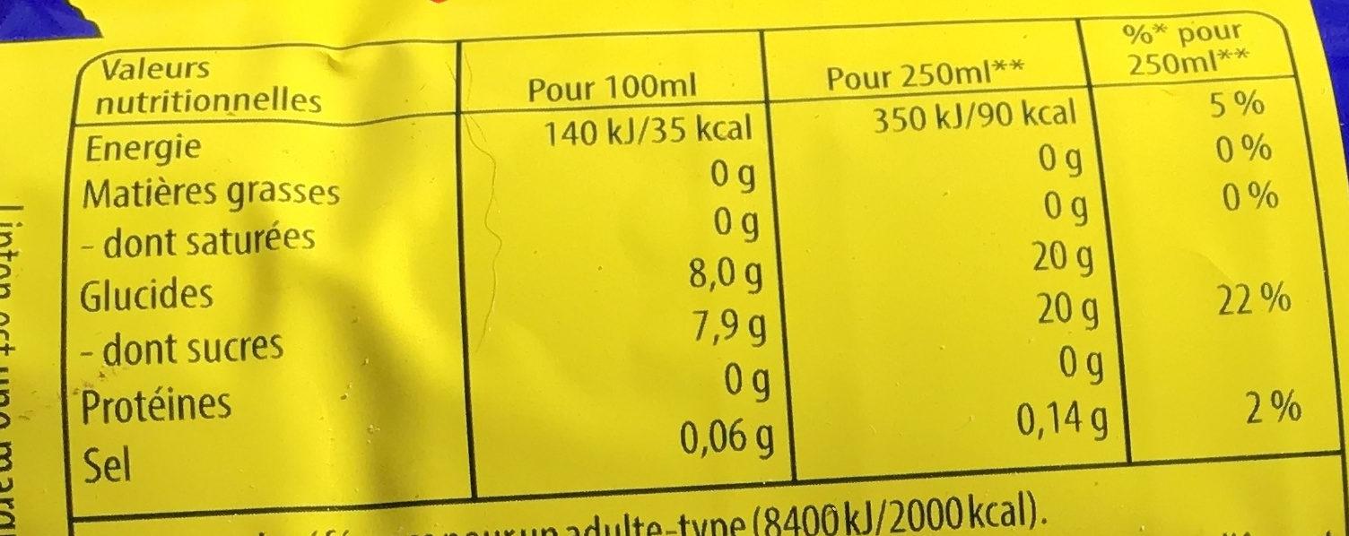 Lipton Liptonic pétillant 1,5 L - Informations nutritionnelles - fr