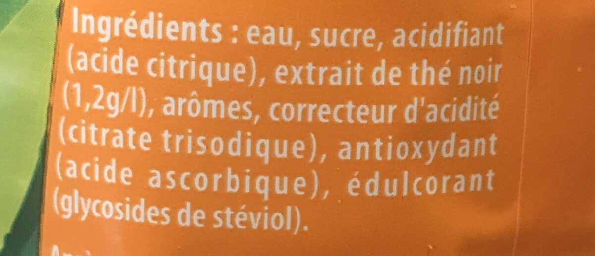 Lipton Ice Tea duo saveur pêche abricot 1,5 L - Ingredienti - fr