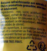 Lipton Ice Tea saveur Grenadine - Ingrediënten - fr