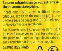 Ice Tea saveur Pêche - Ingrédients - fr