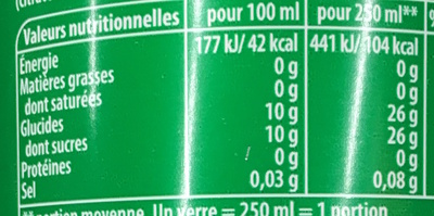 7UP - Informations nutritionnelles - fr