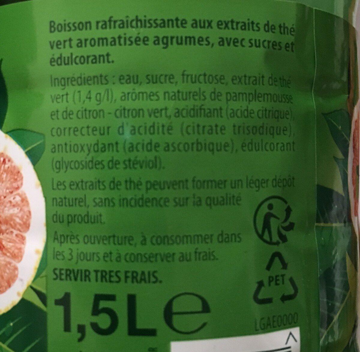 Green ice tea agrumes - Ingrediënten