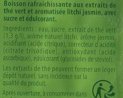 Green Ice Tea saveur Litchi Jasmin - Ingrediënten