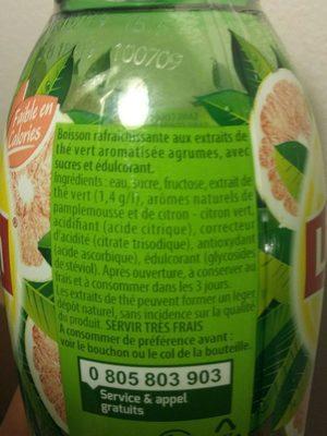 Lipton Green Ice Tea saveur agrume - Ingrédients - fr