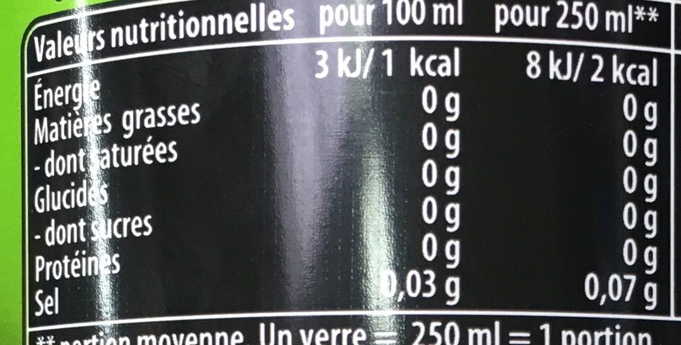Pepsi Max Lime - Informations nutritionnelles - fr