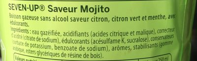 7up saveur mojito free - Ingredients