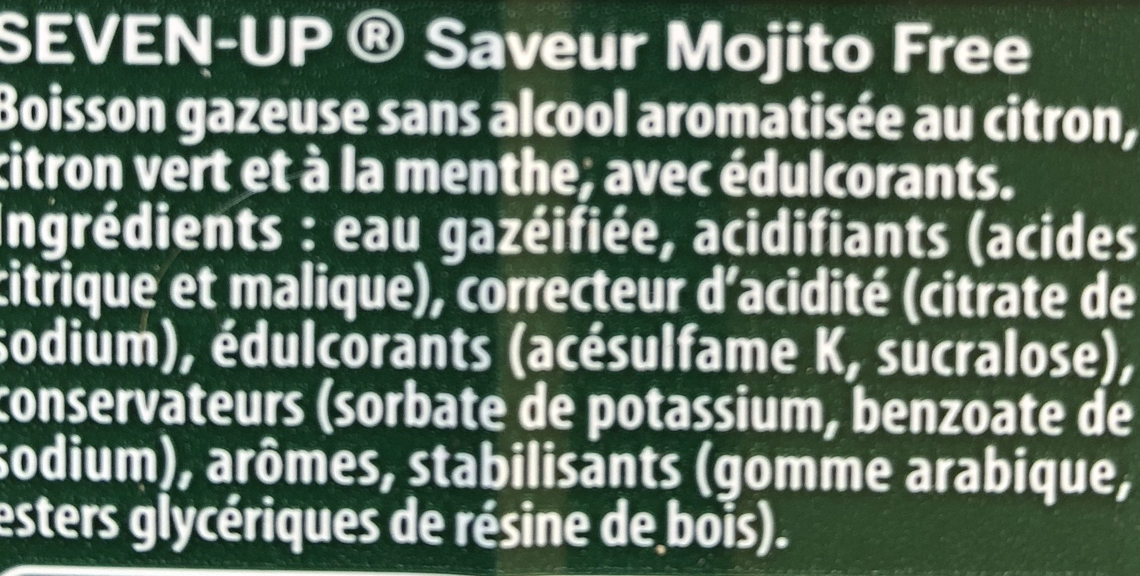 7up Mojito - Ingrédients - fr