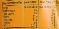 Saveur Cocktail Exotique - Informations nutritionnelles - fr