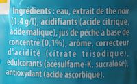 Lipton ice tea pêche zéro sucres - Ingrediënten