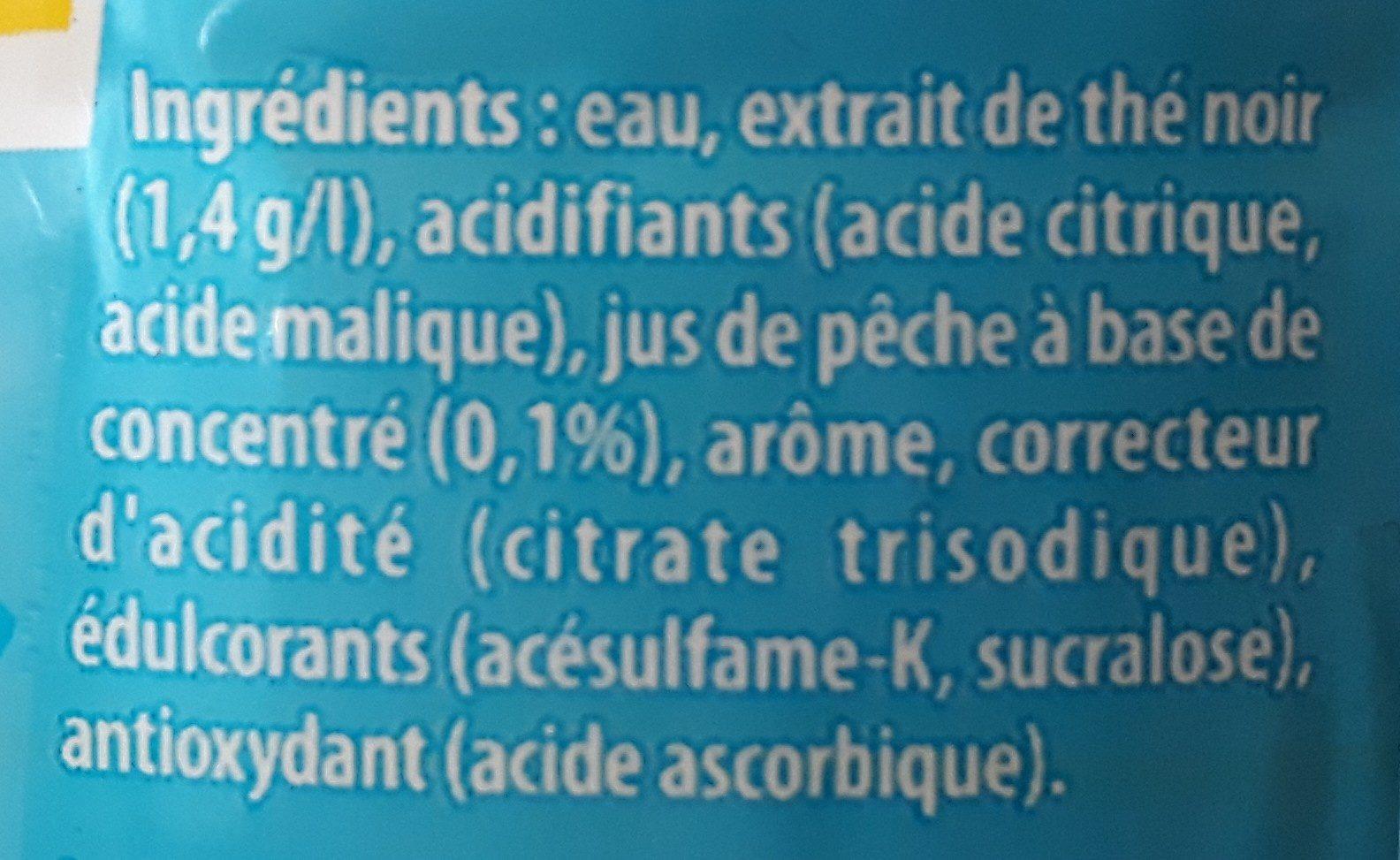 Ice Tea saveur pêche zéro sucres - Ingredients - fr