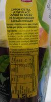 Lipton Ice Tea saveur pêche zéro sucres 1,5 L - Nutrition facts - fr