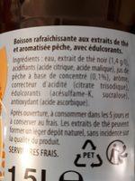 Lipton Ice Tea saveur pêche zéro sucres format familial 2 x 1,5 L - Ingredienti - fr