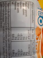 Lipton Ice Tea saveur pêche zéro sucres format familial 2 x 1,5 L - Valori nutrizionali - fr