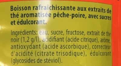 Lipton Ice Tea duo saveur pêche poire 1,5 L - Ingredienti - fr