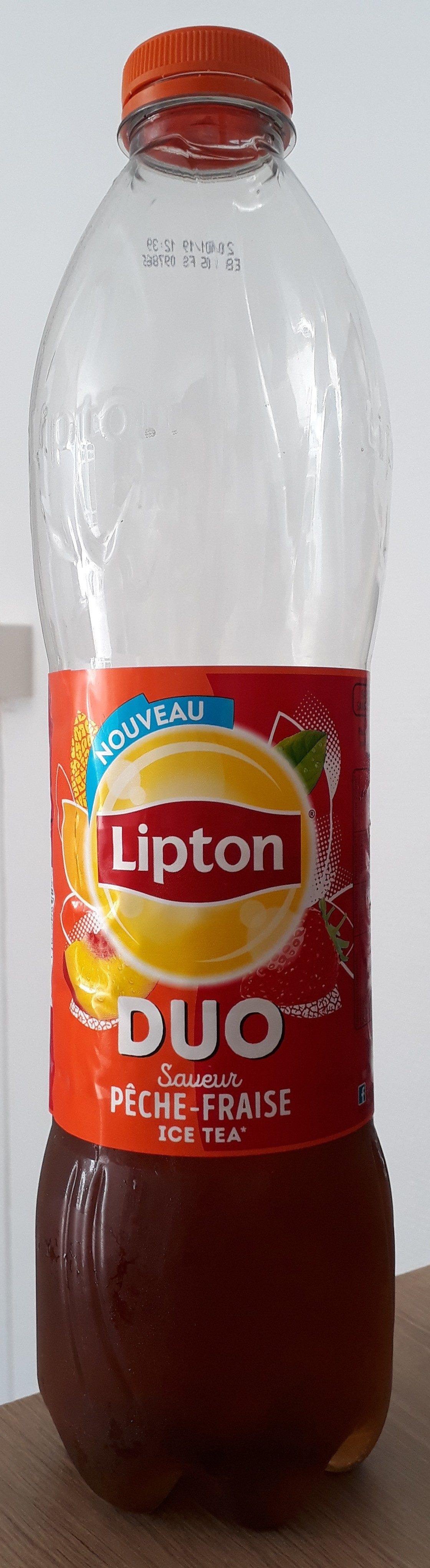 Lipton Ice Tea duo saveur pêche fraise 1,5 L - Prodotto - fr