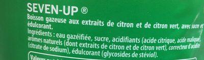 Soda citron & citron vert 7UP - Ingrédients