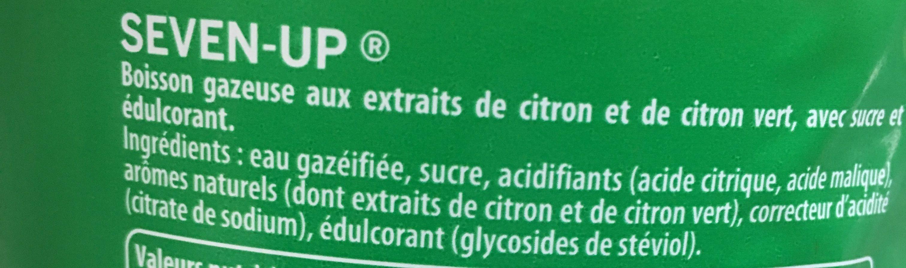 7UP aux Arômes naturels de citron & citron vert format 2 L - Ingrédients - fr
