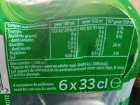 7UP aux Extraits de citron & citron vert 6 x 33 cl - Informations nutritionnelles - fr