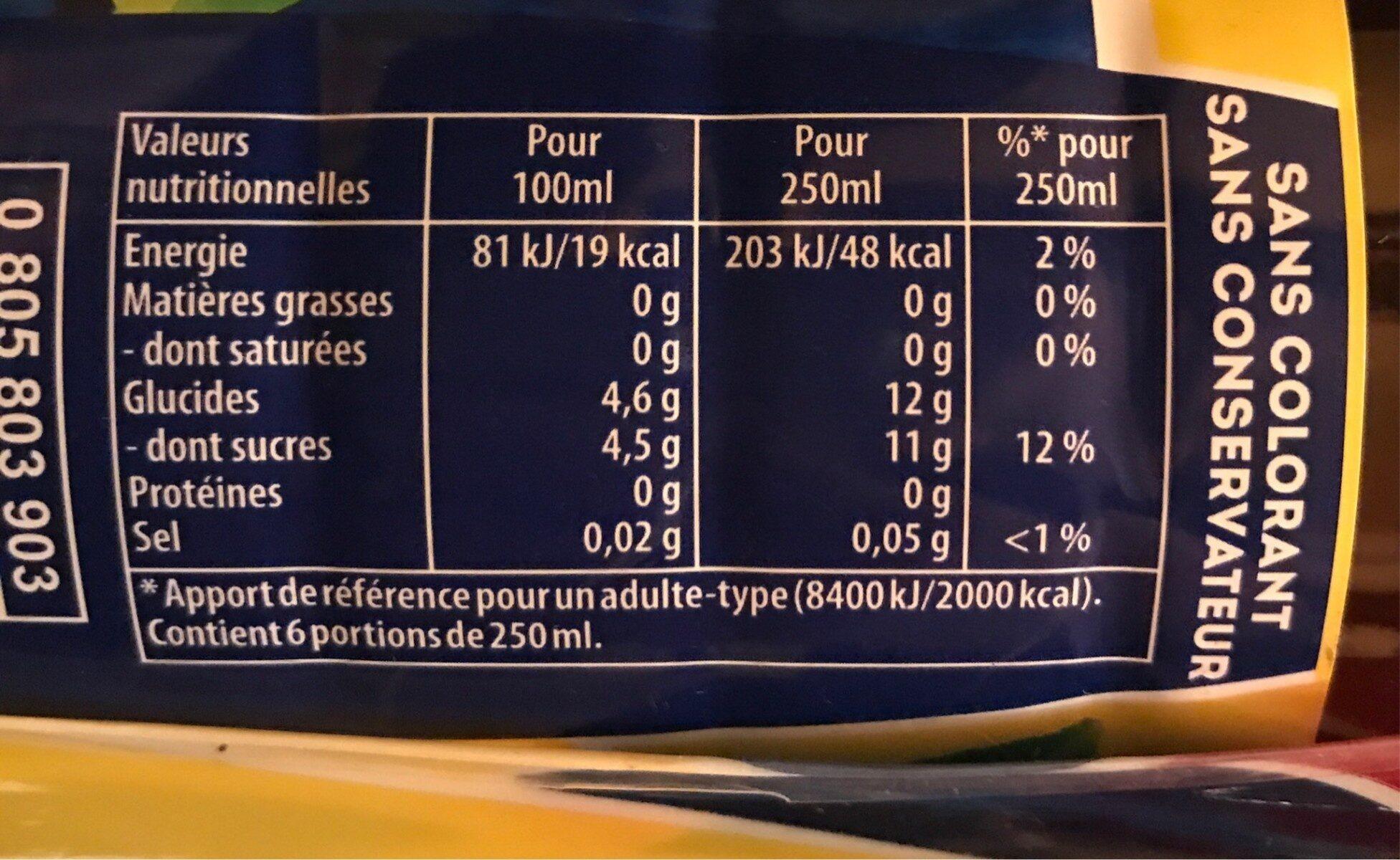 Lipton Ice Tea saveur citron citron vert format familial 4 x 1,5 L - Valori nutrizionali - fr