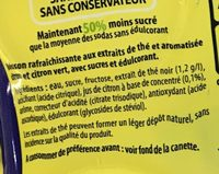 Saveur Citron Citron Vert Ice Tea (format familial) - Ingredients - fr