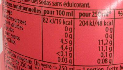 7UP Lemon Lemon Citronnade gazeuse saveur agrumes 1,25 L - Valori nutrizionali - fr