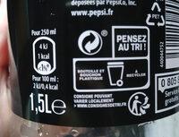 Pepsi Max 1,5 L - Instrucciones de reciclaje y/o información de embalaje - fr