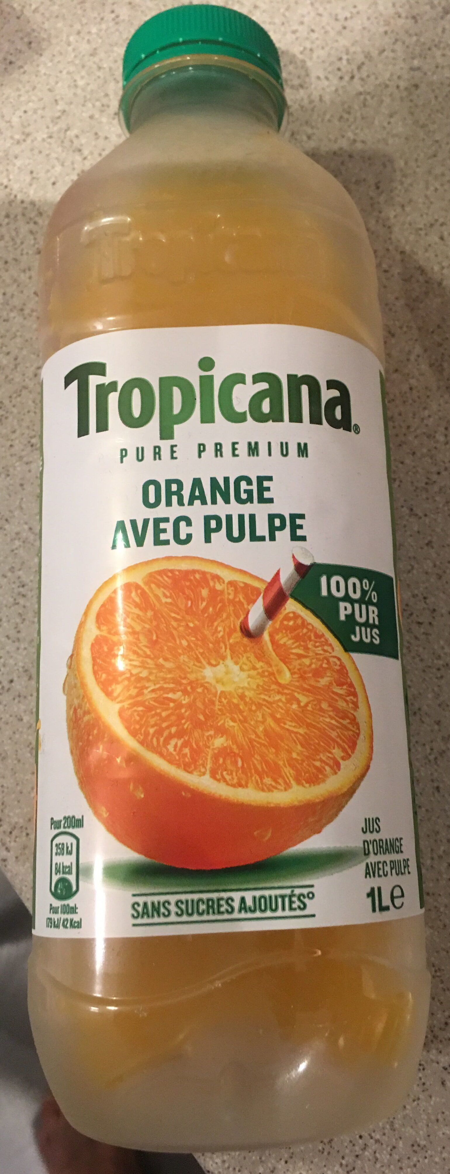 Jus d'orange avec pulpe - Product - fr