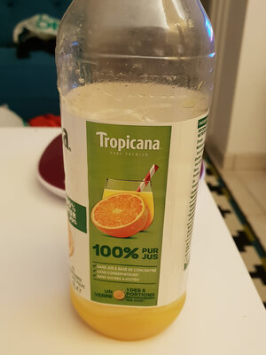 jus d'orange 100% pur jus avec pulpe - Product - fr