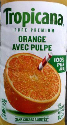 Jus d'orange avec pulpe - Ingredients