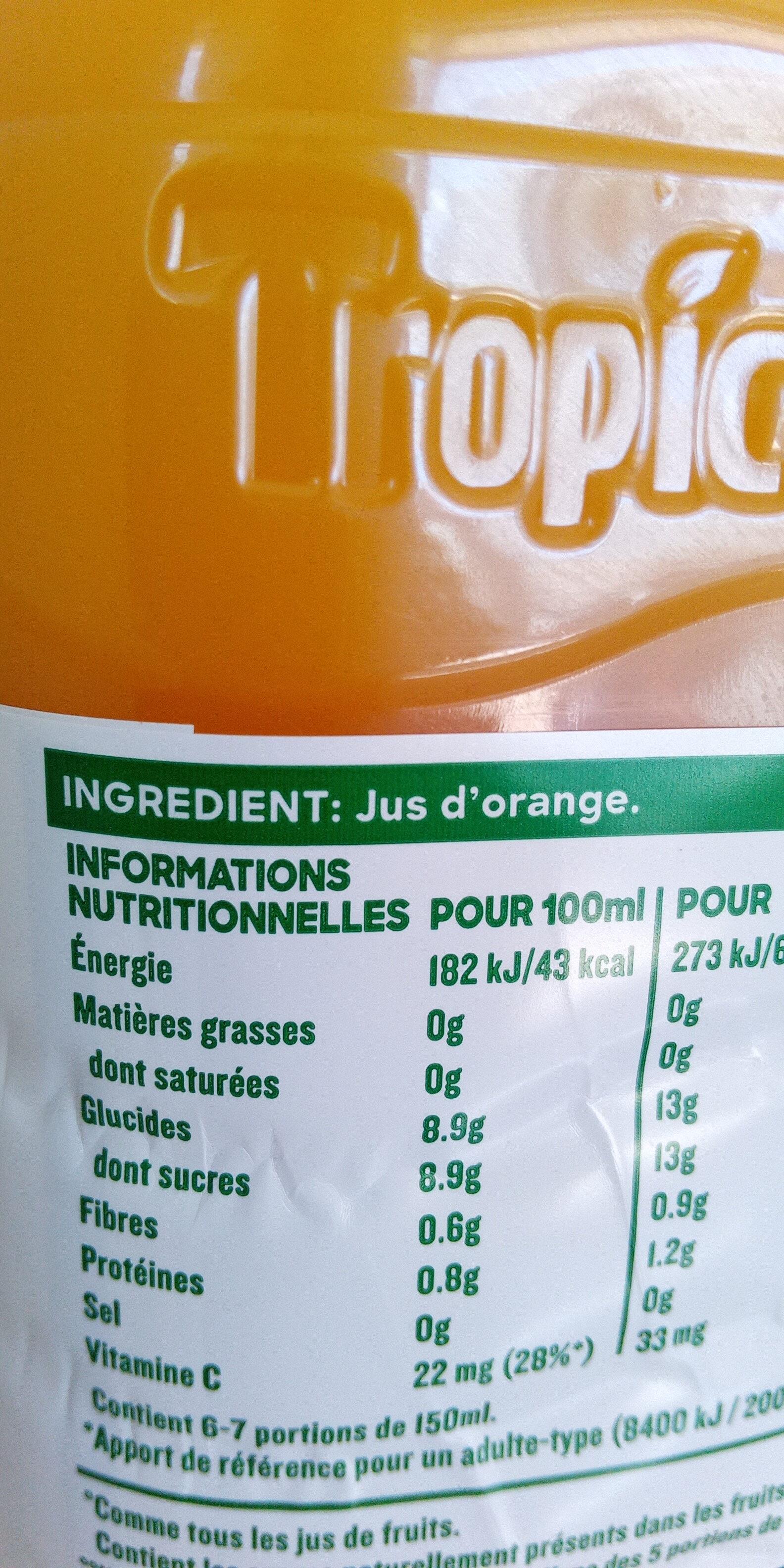 Pur jus d'orange sans pulpe - Ingrediënten - fr