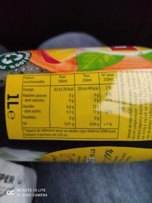 Lipton Ice Tea saveur pêche 1 L - Informations nutritionnelles - fr