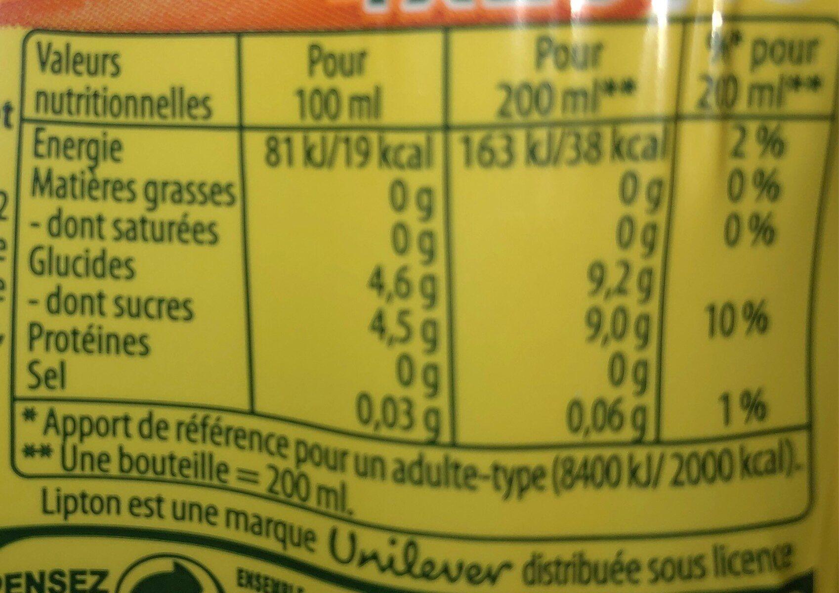 Ice tea peche - Informations nutritionnelles - fr