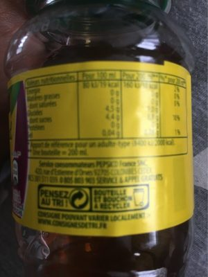 Ice tea tropical - Nutrition facts